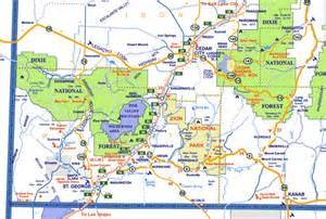 Southern Utah Map by Similiar Utah Parks Map Keywords