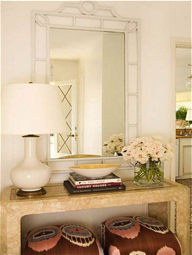 mirror over console five ways to hang art above a console a thoughtful
