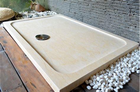 receveur de en naturelle bac de beige palaos en marbre d 201 gypte 120x80 living roc