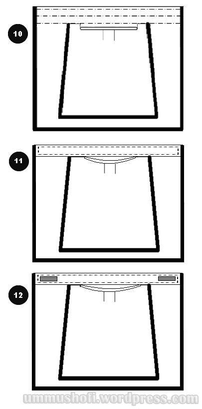 Cara Membuat Pola & Menjahit Cadar Kotak 2 Lapis | niqab diy