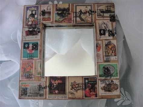 Handmade Mirror Frames - handmade postal mirror frame handmade