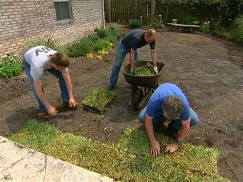 how to remove old sod and lay new sod
