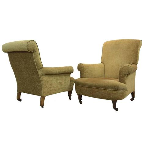 Armchairs Upholstered by Pair Of Upholstered Armchairs At 1stdibs
