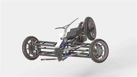 tilting trike motorcycle reverse trike tilting steering solidworks solidworks