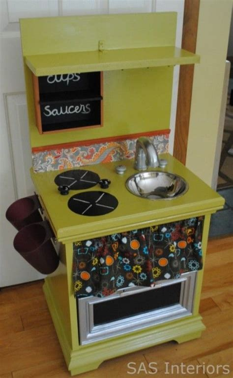 diy play kitchen for kid from old nightstand furniture diy kitchen kids playspace pinterest