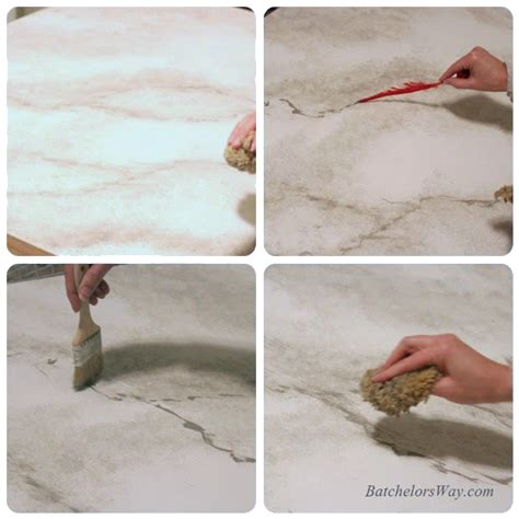faux marble painting technique remodelaholic 30 diy faux marble countertops