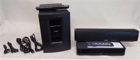 bose cinemate 120 sound bar wireless subwoofer home