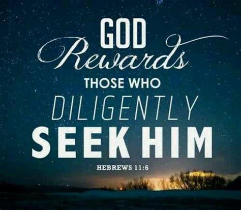 Seeking God diligently seek god faith god