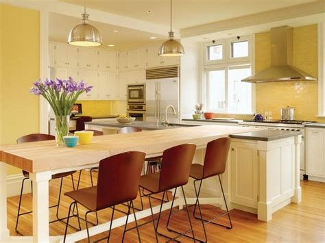 kitchen island with table seating beautiful homes