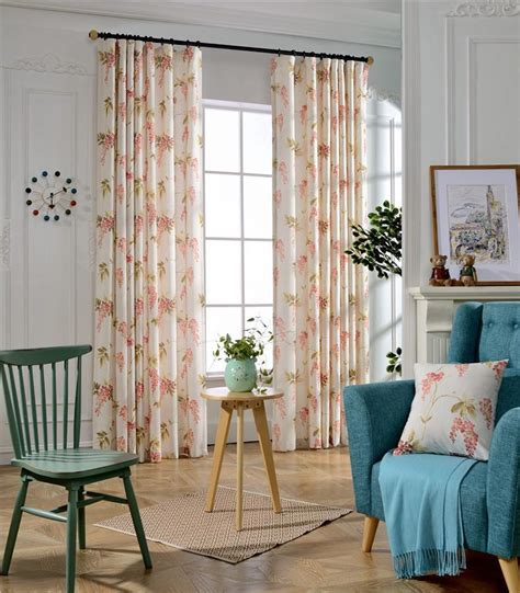 drapes for bedroom flower printed blackout curtains for bedroom floral window