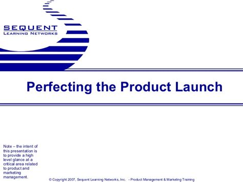 perfecting the product launch