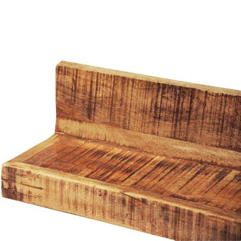 mensole muro mensole a muro in legno massiccio 2 articoli vidaxl it