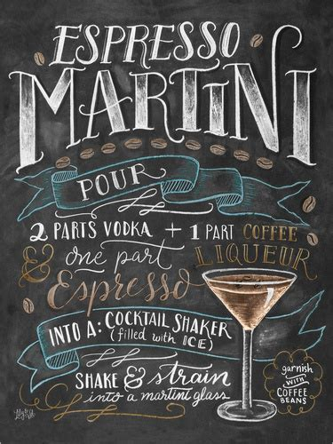 cocktail recipes poster val espresso martini recipe poster posterlounge