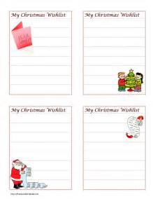 Printable Christmas Wish List Template Wish List Template Search Results Calendar 2015