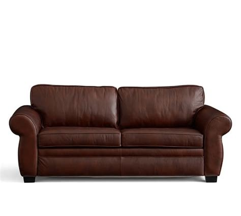 pottery barn leather sleeper sofa pearce leather deluxe sleeper sofa pottery barn