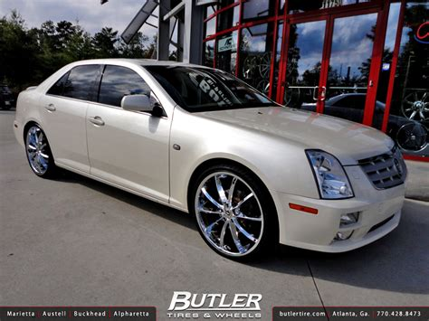 2005 cadillac sts rims cadillac sts with 22in lorenzo wl032 wheels a photo on
