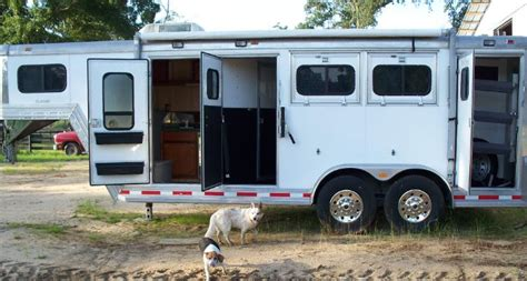 horse trailer awnings custom horse trailer