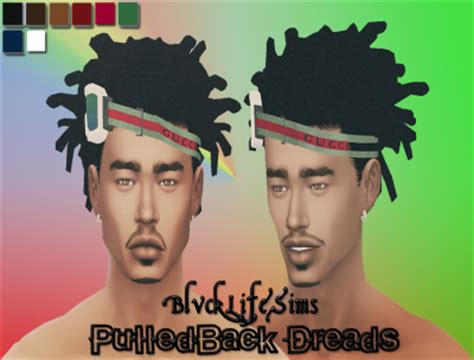sims 4 blvcklifesimz hair sims 4 cc s the best cornrows and pulled back dreads