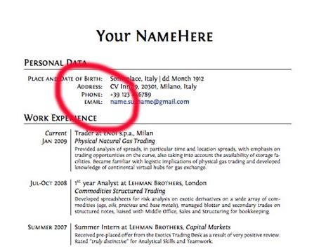 resume phone number format 15 things you should never put on your resume business insider