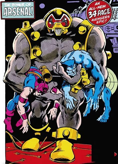 arsenal marvel arsenal marvel comics avengers enemy stark robot