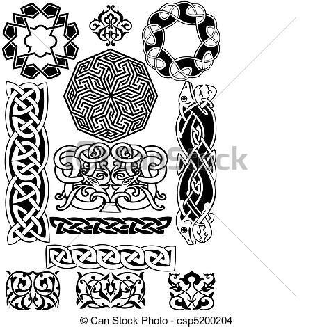 cornici celtiche eps vektor keltisch vektor collection celtic