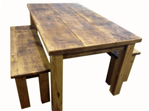bench and tables homeofficedecoration rustic pine dining table bench
