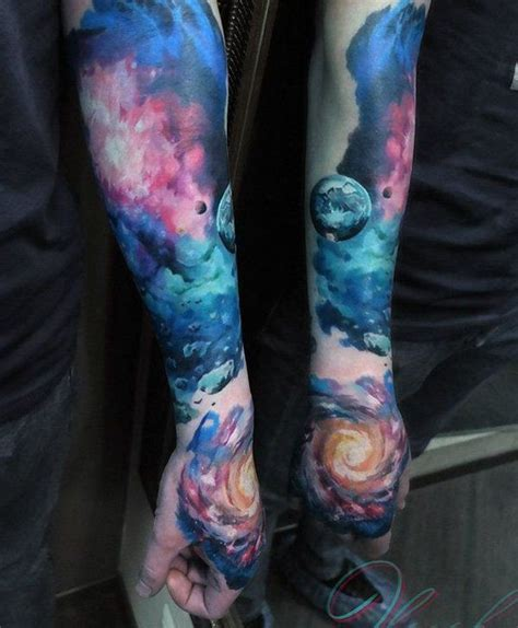 25 beautiful space tattoo sleeve ideas on pinterest