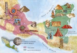 Aztec Ruins Mexico Map by Mesoamerican Maps And Aztec On Pinterest