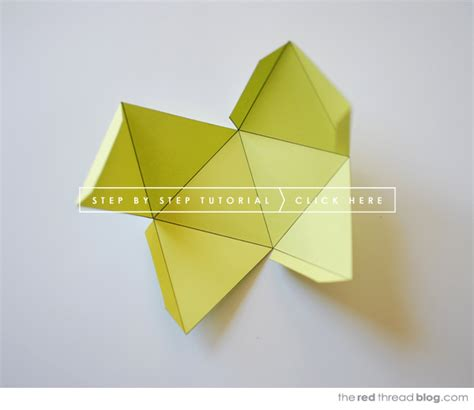 How To Make Geometric Shapes With Paper - tutorial paper geometric shape mobile we are scout