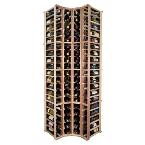 Wine cellar innovations designer series curved corner rack atg stores