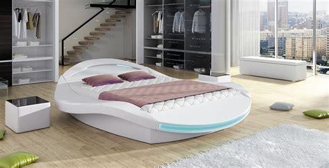lit led design rocher 140 cm avec sommier relevable