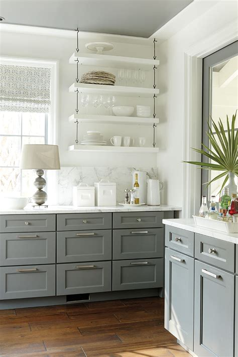 Gray And White Kitchen Cabinets Inside Look 2014 Palmetto Bluff Idea House With Suzanne Kasler How To Decorate