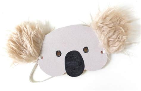 printable wombat mask kids craft koala mask with template my poppet makes