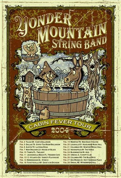 cabin fever a mountain books 2004 yonder mountain string band cabin fever tour poster