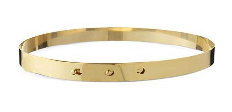 Belt Gold gold slim metal belt on the hunt