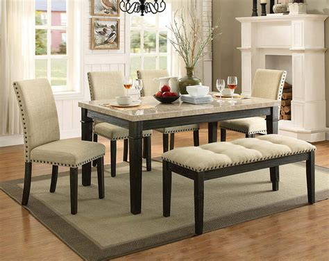 marble dining room set rustic formal dining room set greystone marble 5