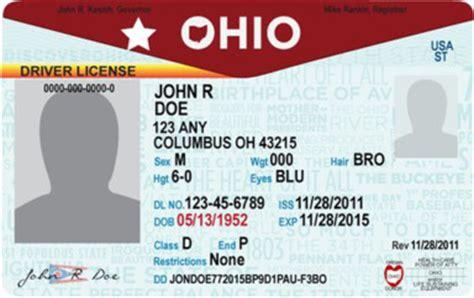 ohio drivers license template new ohio license plate driver s license design