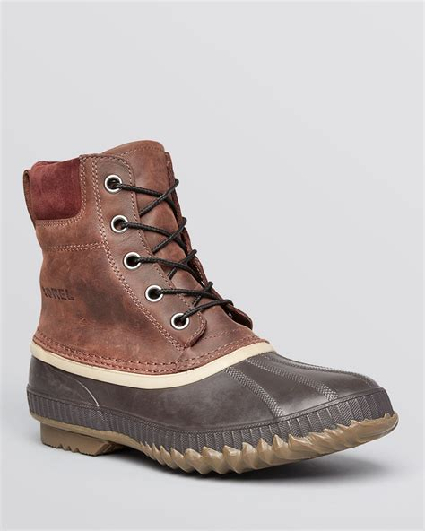 sorel boots for sorel cheyanne waterproof boots in brown for lyst
