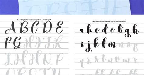 typography worksheet free brush calligraphy practice worksheets typography and