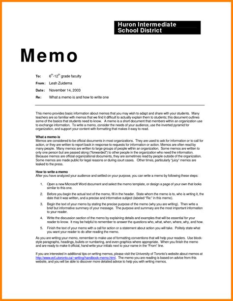 Memorandum Template Office 7 Sle Office Memo Exles Science Resume