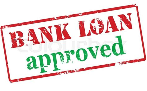 bank loan rubber st with text bank loan approved inside vector