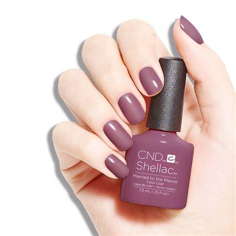 Cnd Nails by Cnd Shellac Mauve Designed Shellac Nails