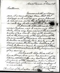 Gwu Honors Program Essay by George Washington Letter June 17 1798