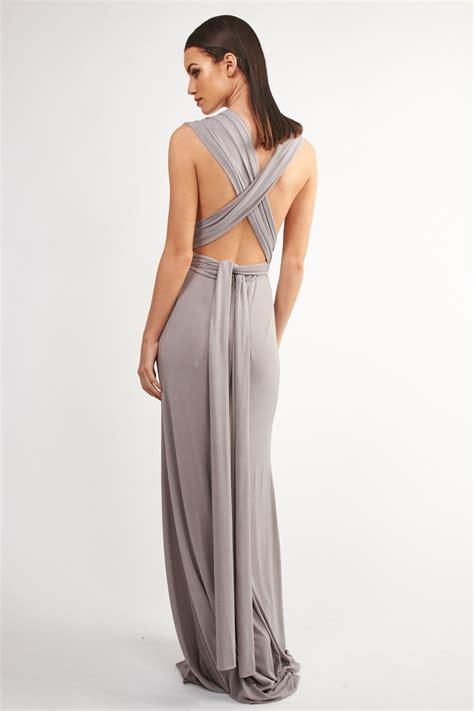 tfnc multi way grey maxi dress tfnc dresses