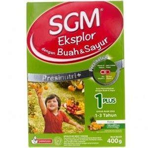 Sgm Buah Dan Sayur 1 Plus jual sgm buah dan sayur 1 plus 400 gr harga murah