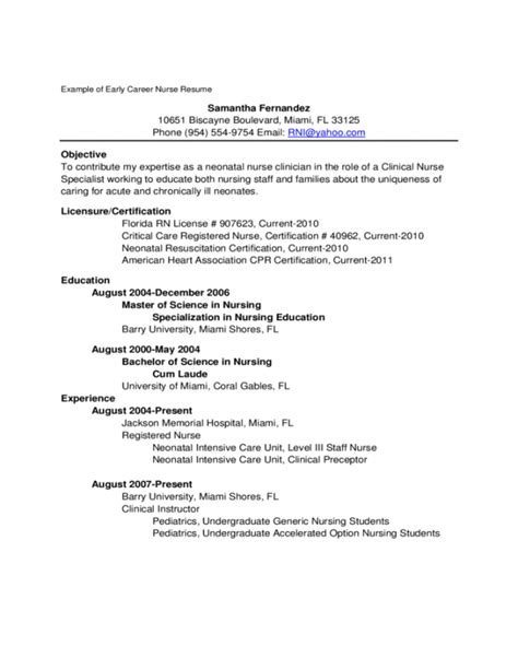 7 new graduate resume exles resume new grad practitioner resume exles new
