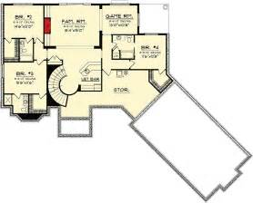 ranch floor plans with basement walkout ranch home plan with walkout basement 89856ah