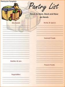 free printable pantry list template scrapbooking