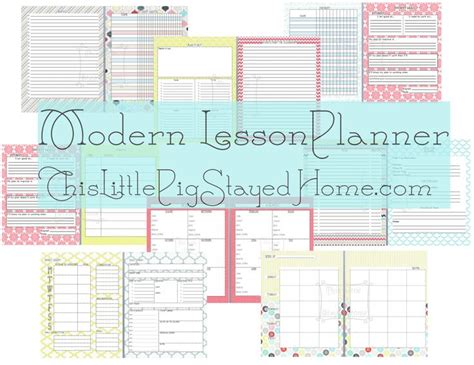 printable lesson plan organizer free cute great planner for teachers