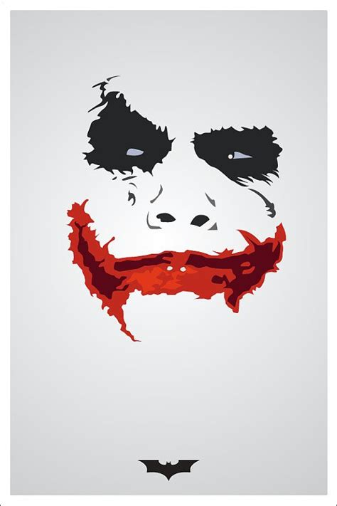 minimalist joker tattoo minimalistic custom movie poster print 12x18 by